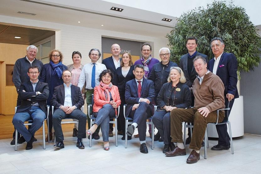 Les membres du conseil d'administration des Vignerons Indépendants 2016
