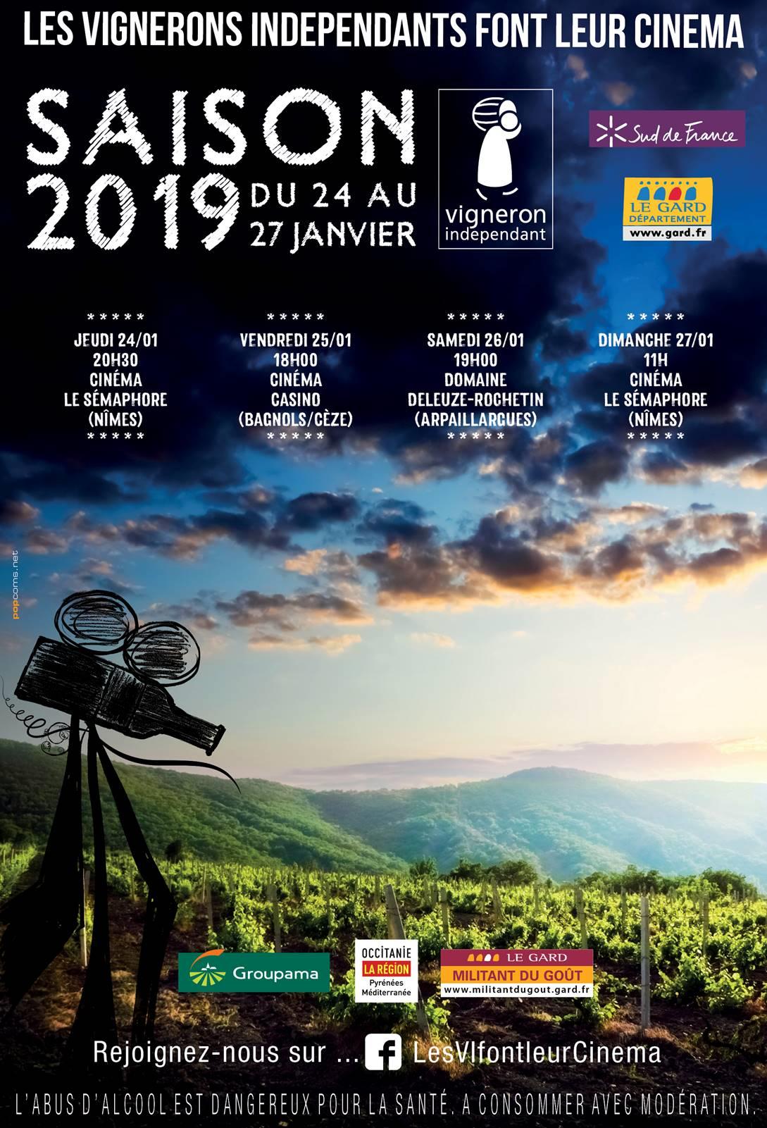 affiche du festival les vigneron indépendant font leur cinema