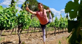 Yoga dans les vignes