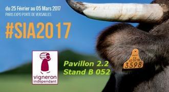 Stand vignerons indépendant au Salon Internationale de l'Agriculture 2017 SIA 2017