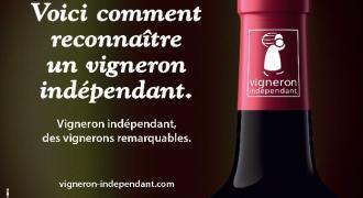 campagne d'affichage logo des vignerons independants